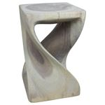 Twist Stool 10 in SQ x 16 in H Agate Grey-3
