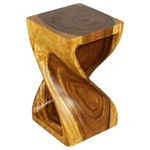 Twist Stool 12 in SQ x 20 in H Walnut-3