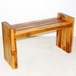 Teak Block Bench 36 x 12.5 x 20.5 in H (Seat = 1-3