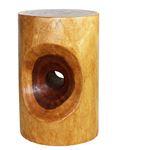 Peephole Stool 13 in D x 20 in H Walnut Oil