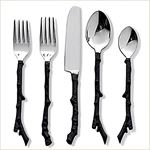 Stainless Steel Twig Flatware 5 Pc Set x 4 Place S