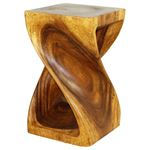 Twist Stool 12 in SQ x 20 in H Walnut