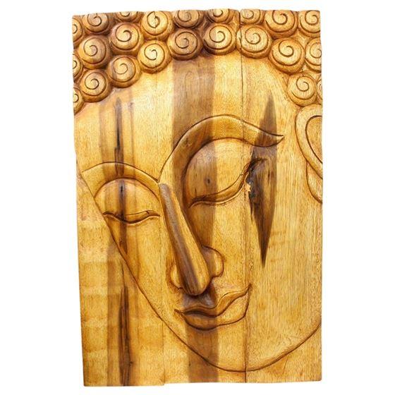 Buddha Panel Pacceka 20 in x 30 in H Oak