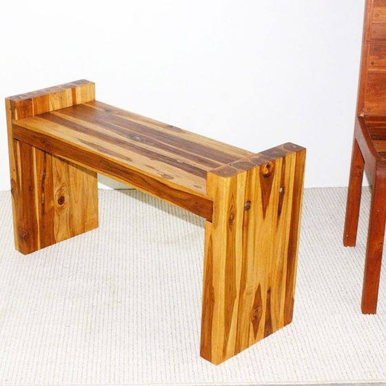 Teak Block Bench 36 x 12.5 x 20.5 in H (Seat = 18)
