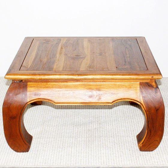 Thai Opium Table 29 x 29 x 16 in H Oak-3