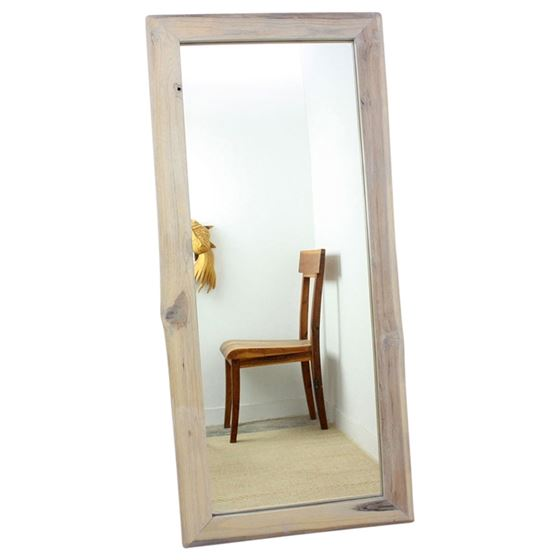 Mirror NE Teak Rectangle 22 x 48 in H (16 x 41) Ag
